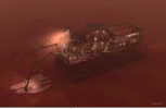 Mars Mining Vehicle artwork