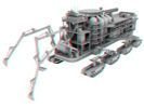 3D version of ore mining machine model.