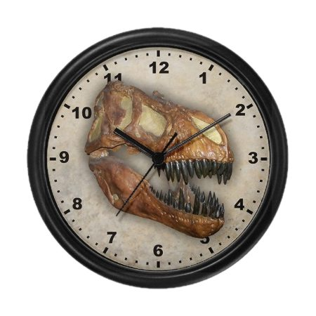 Wall Clock with T-rex image