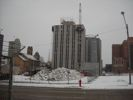 Consumers Energy building demolition in Jackson.