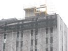 Scaffolding at Consumers Energy building.