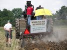 Case steam tractor pullin plow during plowing demonstration