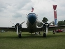 Front view of Candler Field Express DC-3 Airliner
