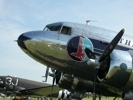 Eastern - Great Silver Fleet DC-3 Airliner close up