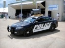 Police car with loud speaker at Oshkosh.