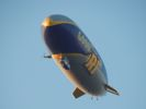 Goodyear airship in flight.