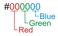 HEX color notation example.