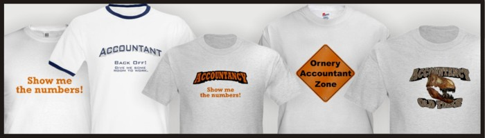 Accountant t-shirts for sale