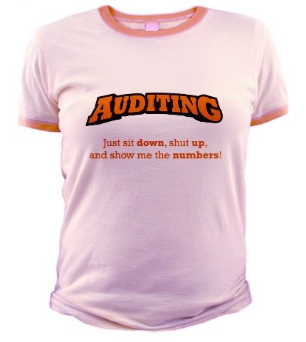 Busy auditor t-shirt