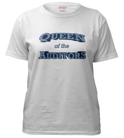 Queen of the auditors t-shirt