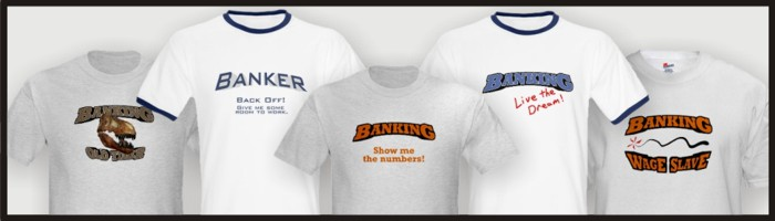 Banker t-shirts for sale