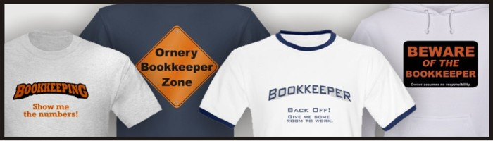 Bookkeeper t-shirts for sale
