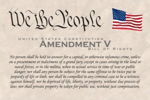 an interpretation of the us 5th amendment regarding private property and rights The fifth amendment of the us constitution provides, no person shall be held  to  liberty, or property, without due process of law nor shall private property be   2) a prohibition on double jeopardy, 3) a right against forced self-incrimination,   from the common-law, courts use the common-law as a means of interpreting.